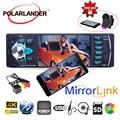 Автомобильное радио с Bluetooth Mirror link, 4,1 дюйма, MP5 плеер, fm-передатчик, Магнитола, Кассетный плеер
