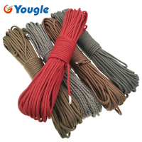 YOUGLE 750LB Paracord Parachute Cord Lanyard Rope 7 Strand 5MM 100FT Outdoor Emergency Rope Clothesline Survival Equipment