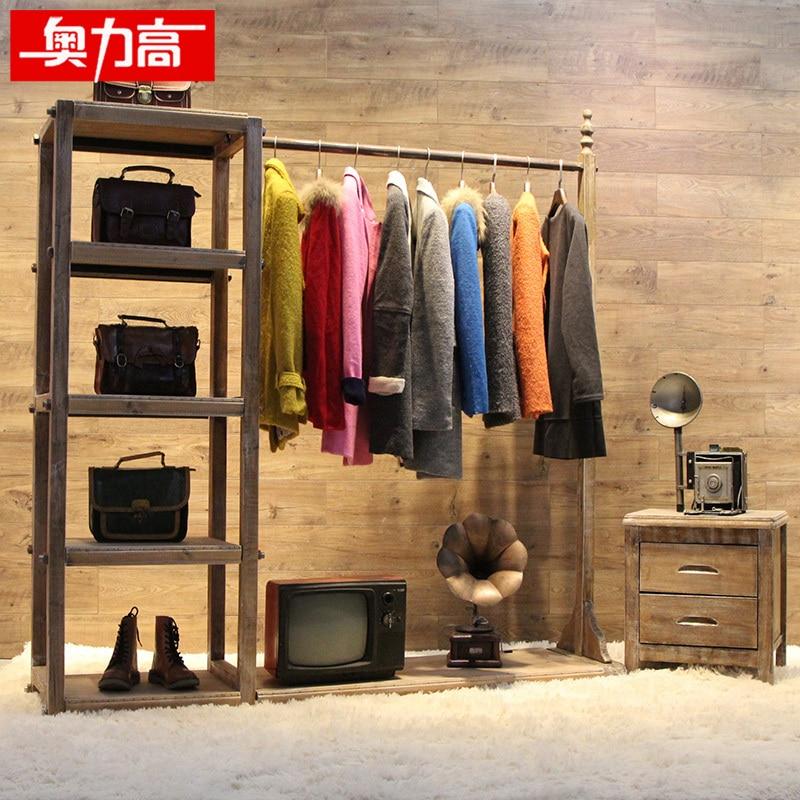 Austriacos alta estante de madera de ropa tienda de ropa - Madera para estantes ...