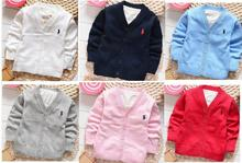 New Kids Boys cardigan Spring candy-colored 100% cotton baby boys and girls in polos single-breasted cardigan jacket colorful