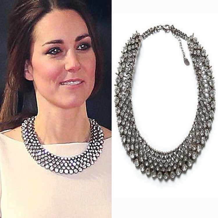 2019 New Kate Middleton necklace necklaces & pendants fashion luxury choker design crystal pendant necklace statement jewelry
