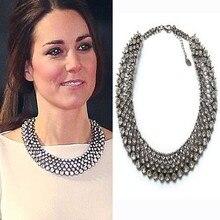 2017 New Kate Middleton necklace necklaces & pendants fashion luxury choker design crystal pendant necklace statement jewelry