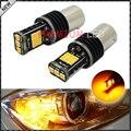 2 unids free error ámbar amarillo samsung led smd bau15s 7507 1156PY PY21W LED Bombillas Para Direccionales Delanteras y Traseras luces