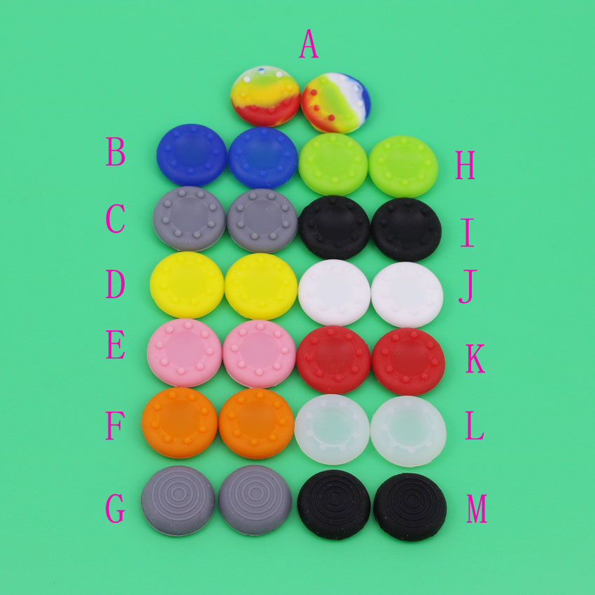 200 PCS Joystick Caps Silicone Analog Thumb Stick Grip Controller Thumbstick Cap Cover Key Protector For Ps3 PS4 for XBOX ONE
