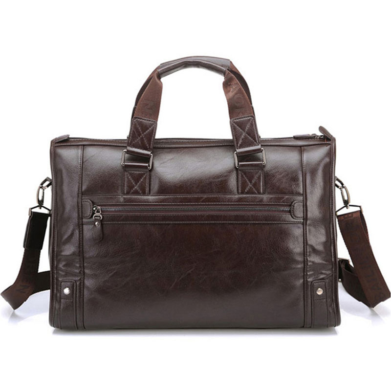 Hommes cuir noir porte-documents affaires sac à main Messenger sacs mâle Vintage sac à bandoulière hommes grand ordinateur portable sacs de voyage chaud XA177ZC - 5