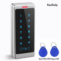Touch Keypad Entry System Support 1000Card and 500Password One Touch Entry Office Access Waterproof Access Wiegand Card Reader