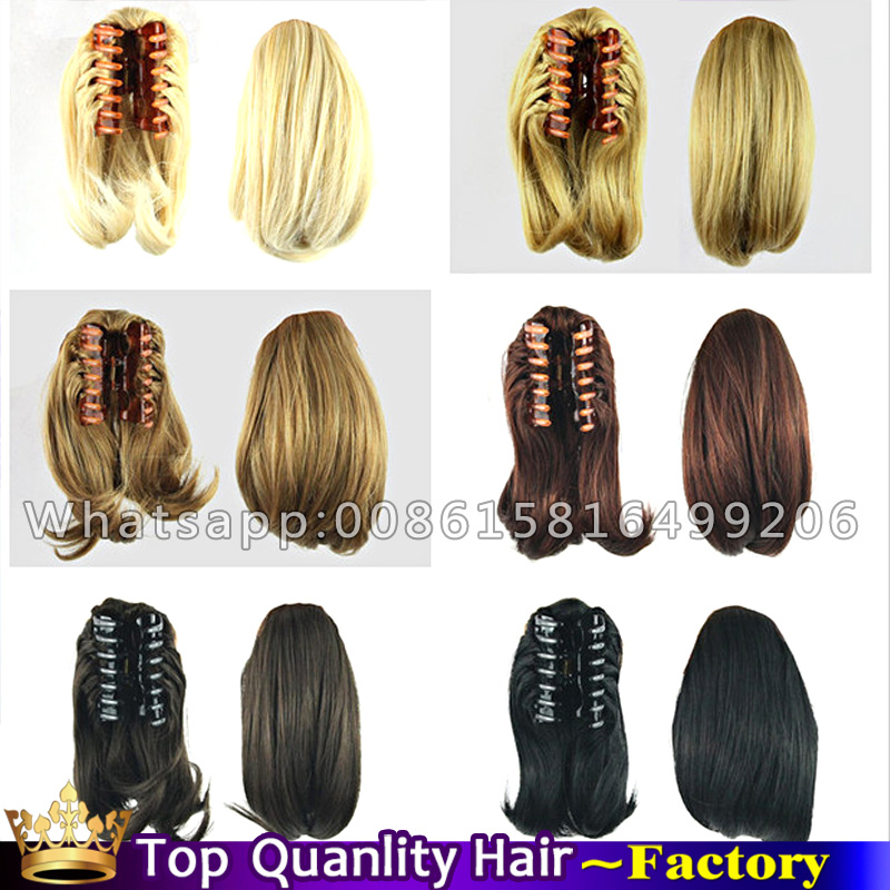Pleasant Aliexpress Com Buy Free Ship Claw Clip Hair Extensions Ponytails Short Hairstyles For Black Women Fulllsitofus