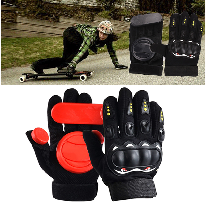 Longboard Gloves 3 POM Protect Hand Downhill Non-Slip Palm Block Professional Sporting Goods Skateboard Gloves With Slider