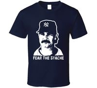 FL AEVVE Don Mattingly Fear The Stache Baseballer T Shirt