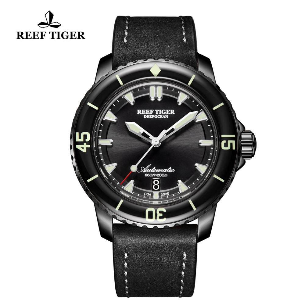 2019 New Reef Tiger/RT Dive Sport Watches with Chronograph Date Leather Strap Super Luminous Watch for Men RGA3035-BBBC2019 New Reef Tiger/RT Dive Sport Watches with Chronograph Date Leather Strap Super Luminous Watch for Men RGA3035-BBBC