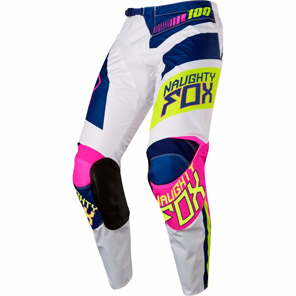 NEW 2018 NAUGHTY FOX MX 180 Falcon Nirv White FLO Yellow Pants Motocross Gear off-road Racing PantNEW 2018 NAUGHTY FOX MX 180 Falcon Nirv White FLO Yellow Pants Motocross Gear off-road Racing Pant