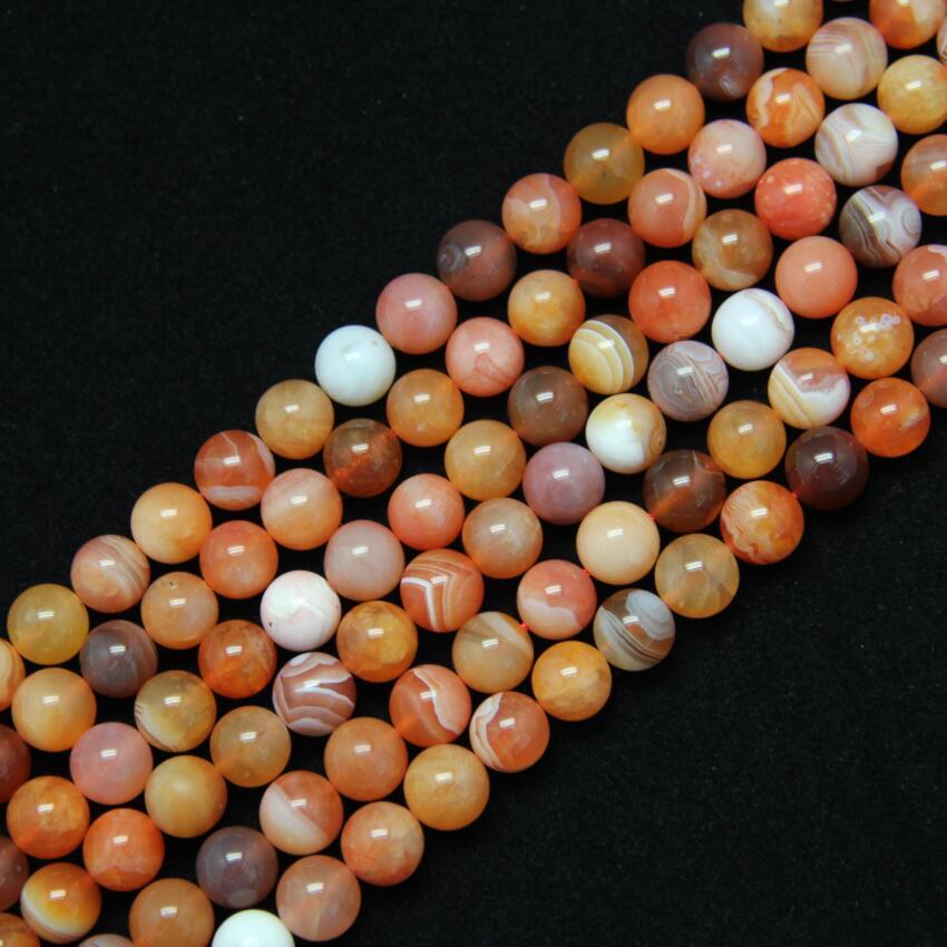 2 пряди 6 мм красный Ботсвана купля гладкие круглые Бусины, stirped Агаты натуральный Камни свободные Бусины Spacer Красота Самоцветы DIY браслет