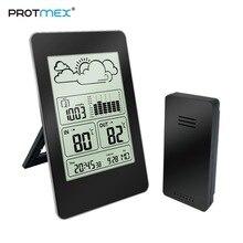 Protmex PT3363 погодные часы, многофункциональная Метеостанция для помещений и улицы с температурой