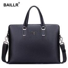 BAILLR Marke Luxus männer Aktentasche Aus Echtem Leder Männer Tasche Geschäfts Leder Aktentasche Männer Laptop Leder Herren Umhängetasche