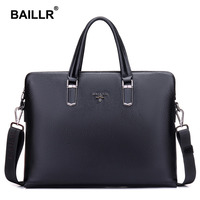 Brand Genuine Leather Luxury Men Business Briefcase Men Messenger Bag Fashion Cowhide Leather Bag Men Laptop