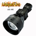 Uniquefire Новый upgrad 1504 xre-светодиоды фонарик практичный зеленый/красный 1 режим света для кемпинга охоты Бесплатная доставка