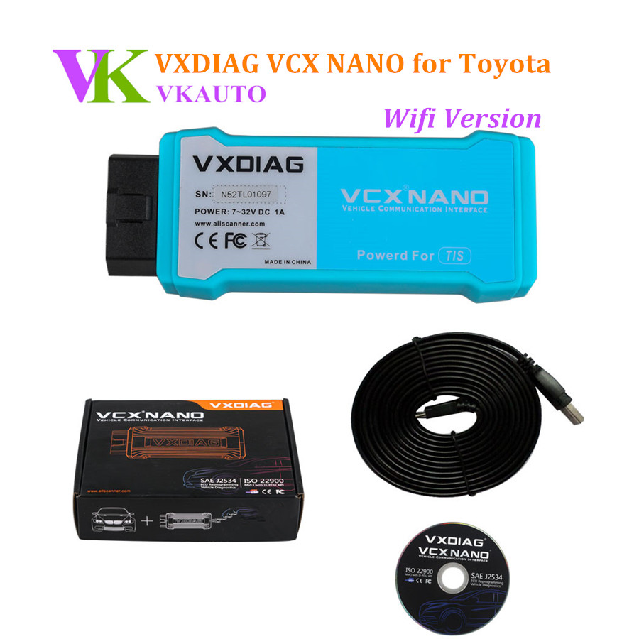 Wifi Version VXDIAG VCX NANO TIS V10.30.029 Compatible with SAE J2534 Diagnostic Tool
