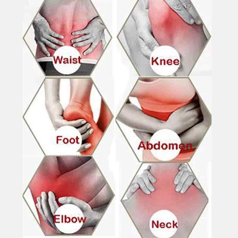 8 個のホワイトタイガークリーム漢方薬医療石膏関節痛バック治療関節炎石膏膝パッド cr