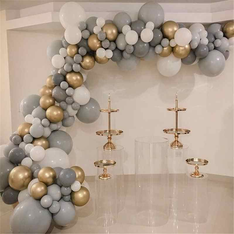 20pcs 30pcs 50pcs 5inch 10inch Pastel Grey Balloons Matte Gray Macaron Balloon Wedding Decorations Birthday Party Supplies