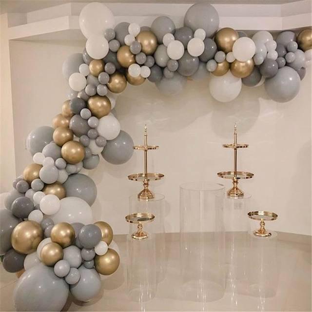 20 adet 30 adet 50 adet 5 inç 10 inç Pastel gri balonlar mat gri Macaron balon düğün süslemeleri doğum günü parti malzemeleri