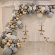 20 piezas, 30 Uds., 50 Uds., 5 pulgadas, 10 pulgadas, globos grises Pastel, Macaron gris mate, globo de decoración para boda suministros de fiesta de cumpleaños