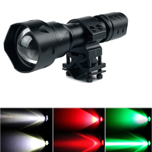 UniqueFire Military Hard Anodic Oxidation Flashlight UF-T20 Cree XRE Top imported Light Source, 3 Modes Flashlight+Scope Mount