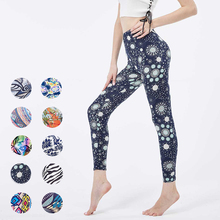 New Printed Leggings For Womens Yoga Pants Sexy Fitness High Waist Activewear Push Up Sports Elastic Breathable Workout