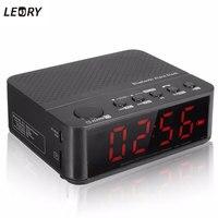 New Multifunctional Black Digital LED Display Alarm Clock Bluetooth Speaker FM Radio Mp3 Player TF DC