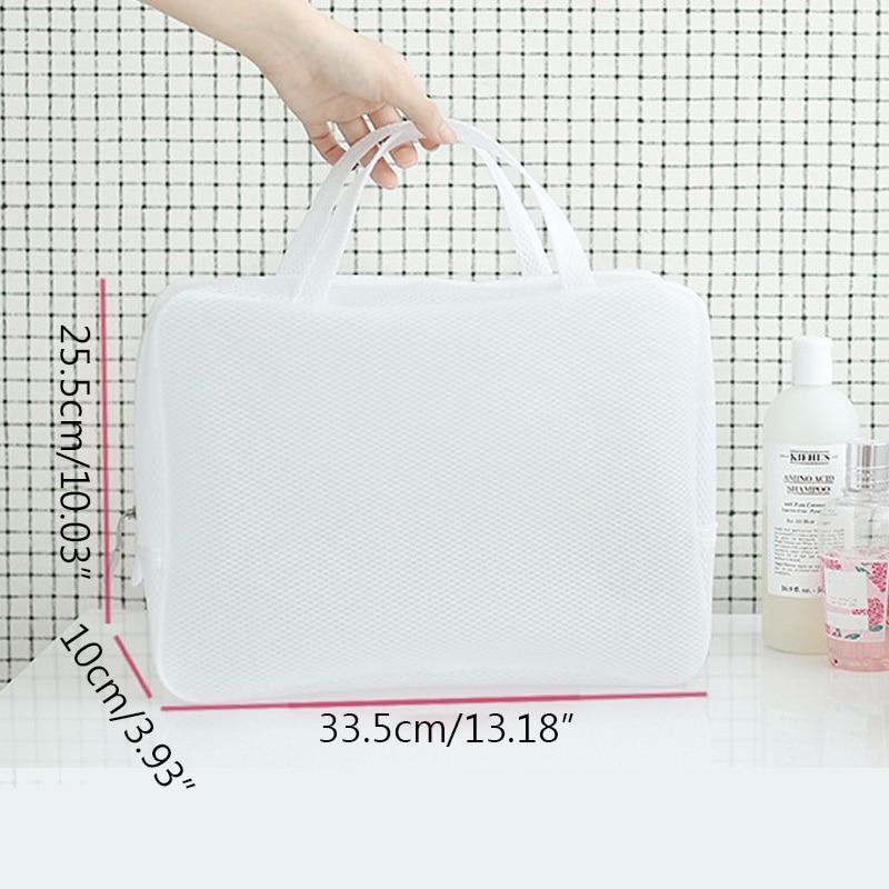 White Waterproof Wash Makeup Large Travel Cosmetics Storage Bag Waterproof SummerWaterproof Bathroom Wash Bags in Storage Bags from Home Garden