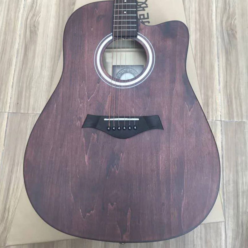 2019 New Synthetic Board, Original 41 Inch Popular Folk Song Wooden Corner Guitar image
