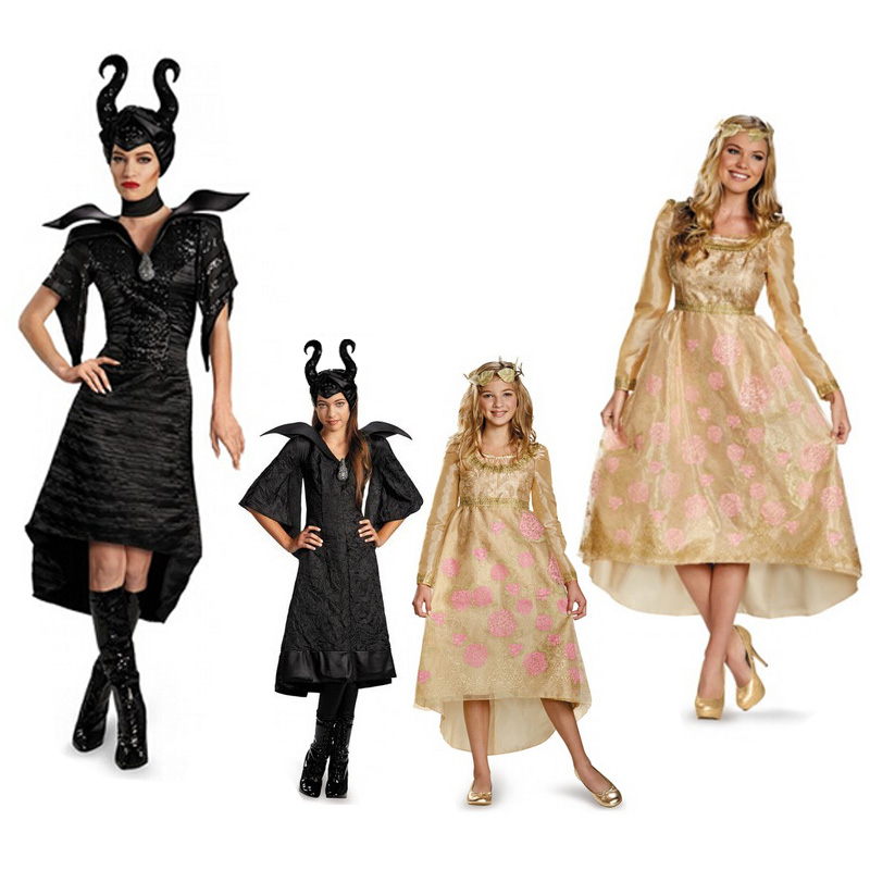 Us 23 79 15 Off Halloween Party Cosplay Children Girl Maleficent Costume Princess Aurora Witch Sleeping Princess Costume In Girls Costumes From