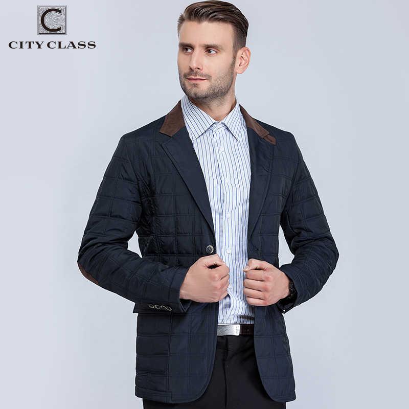City Class Новых Мужские Осенние Куртки Мода Casual Стёганный Костюм Воротник Пиджака Бесплатная Доставка CC13163