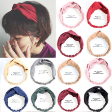 2018 princess hair accessories Women Twist Headband Hair Band Turban Elastic Bandage Hairband Crossed