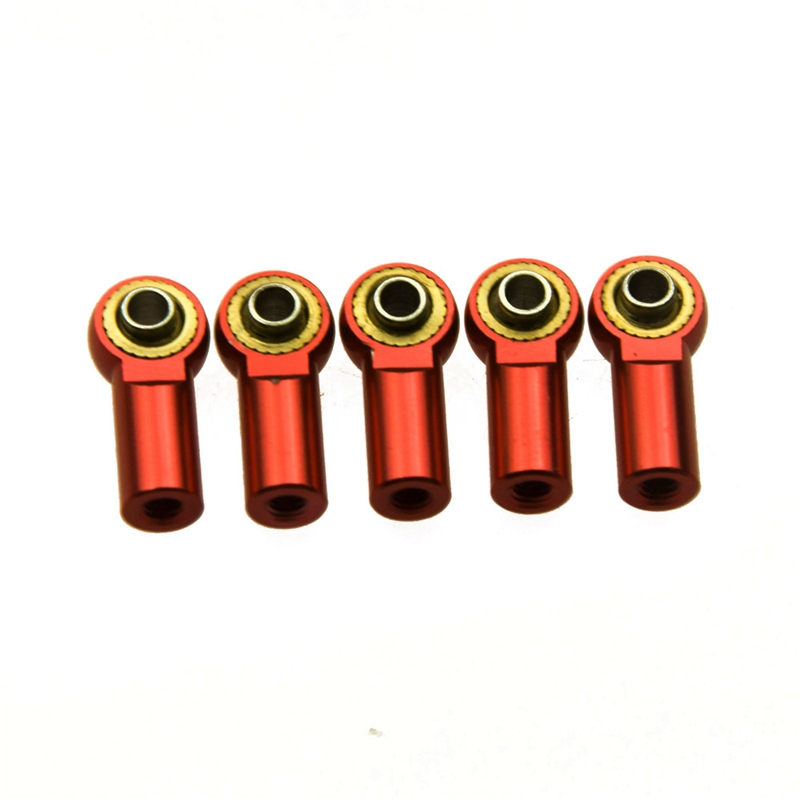 5Pcs Red M3 Metal Ball Head Holder Tie rod end For RC Climbing Crawler Car Axial SCX10