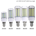 1X 30 36 48 56 69 89 102LEDs E14 E27 220V LED Corn light Bulb Replace Compact Fluorescent lamp CFL (7W 12W 15W 20W 25W 30W 35W)