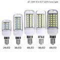 1X30 36 48 56 69 89 102 LEDs E14 E27 220 V CONDUZIU a luz do Milho Bulbo Substituir Compacto CFL lâmpada fluorescente (7 W 12 W 15 W 20 W 25 W 30 W 35 W)
