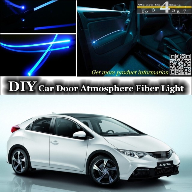 For HONDA Civic interior Ambient Light Tuning Atmosphere Fiber Optic ...