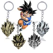 4 типа аниме ювелирные изделия брелок с надписью Dragon Ball Z Son Goku Saiyan 3D металлическая фигурка игрушка подвеска брелок аксессуары Автомобильный держатель для ключей