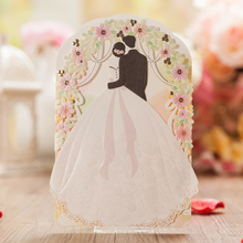 Wedding Invitations Customize Romantic Church Bride and Groom Wedding Cards Laser Cutting Invitation Card Wedding Favors CW5119