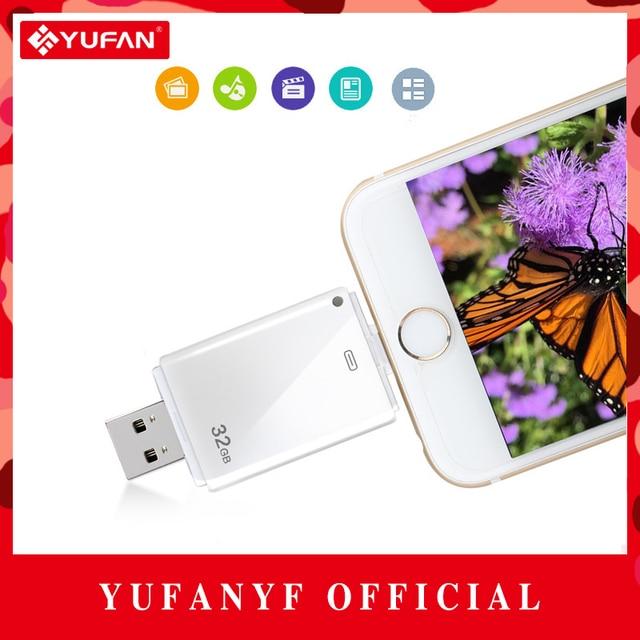 3 in1 i-USB-Almacenista Usb Otg Usb Flash Drive 8 GB 16 GB 32 gb 64 gb para iphone 5s/5c/6/6 s plus/ipad para android teléfono inteligente pluma unidad