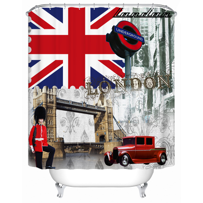 London Flag Vintage Durable Fabric Curtain For Bedroom Bathroom Polyester Bath Kitchen Curtains With Hooks Rideau De Douche In Shower From Home
