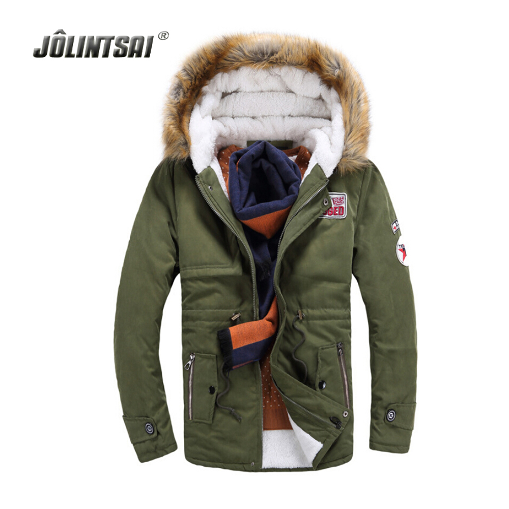2017 Winter Jackets Mens Warm Men's Parka Thick Faux Fur ...