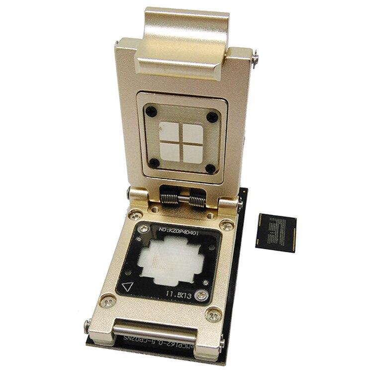 EMCP Reader Pogo Pin Test Socket With SD Interface,Nand Flash BGA186 BGA162  Pitch 0.5mm Aluminium Alloy Clamshell