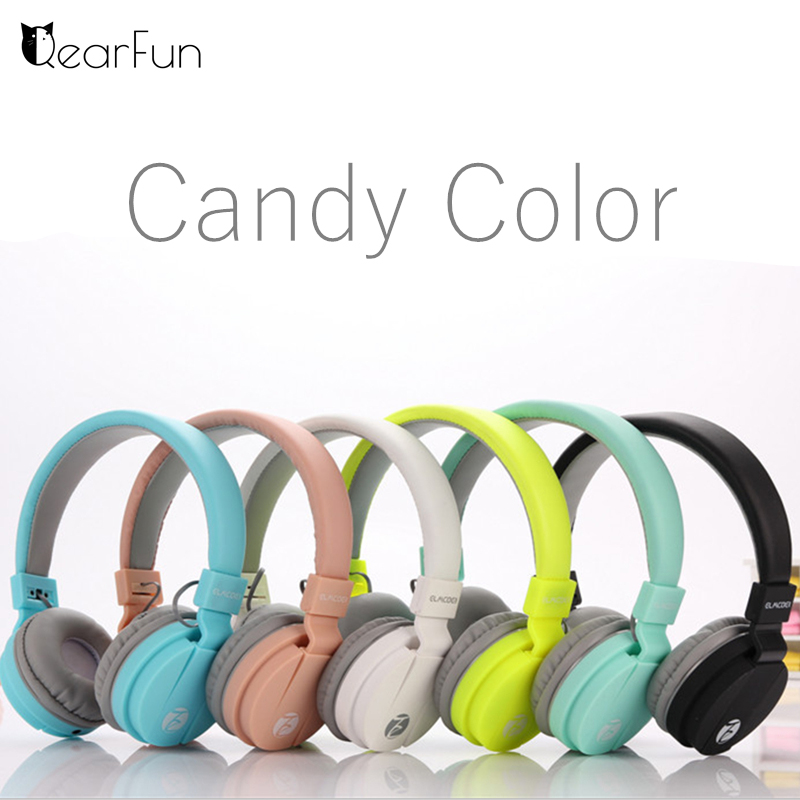 Cute Wired Foldable Headphone Stereo Bass Headset Headband Earphone With mic for iPhone Samsung Xiaomi PC MP3 Girls