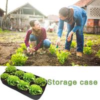 Raised Garden Bed, Divided 8 Grids Fabric Raised Planting Bed Rectangle Garden Grow Bag For Herb Flower Vegetable Plants