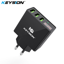 KEYSION LED Digital 3 Ports USB Charger Universal Wall Mobile Phone For iPhone XS MAX XR X 8 7 Samsung A50  S10 Adapter