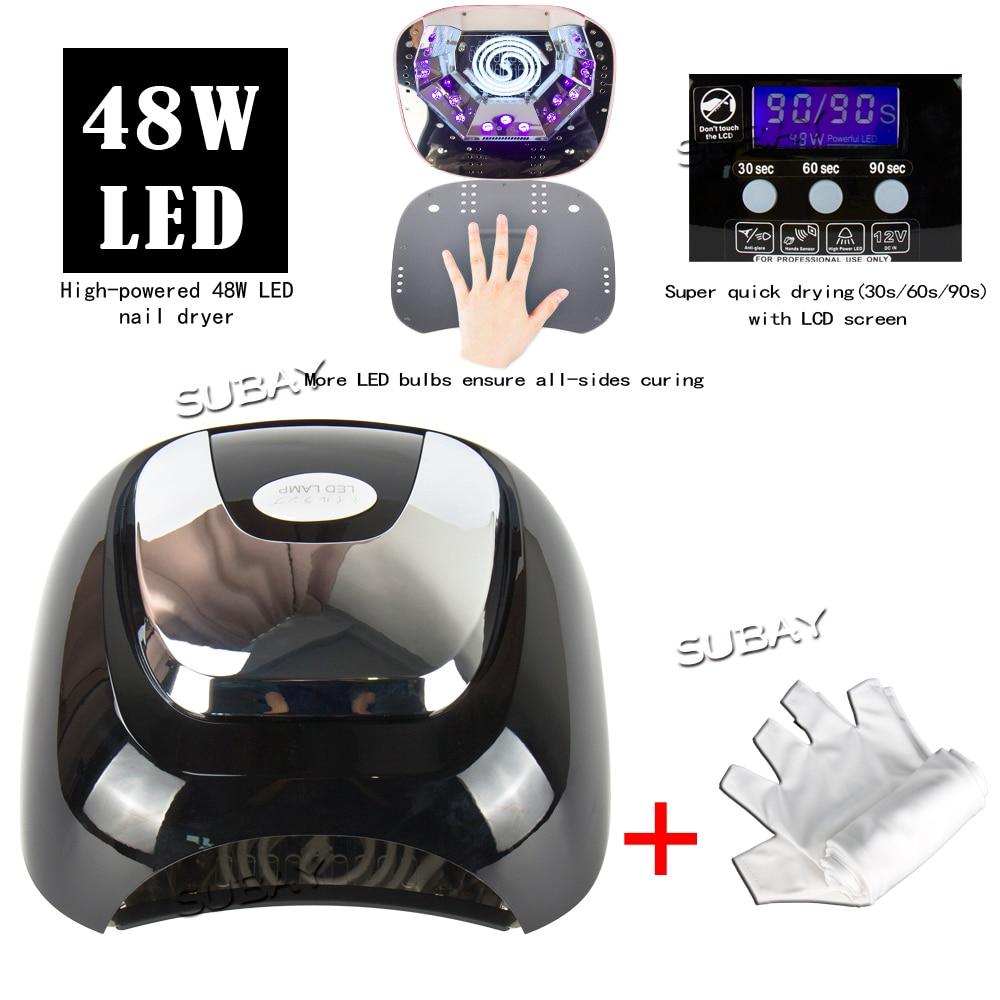48W Nail Dryer for nail Polish UV Gel fast dry CCFL LED + UV lamp Nail tools with automatic sensor Salon Beauty Equipment makartt ultrared automatic sensor nail dryer warm