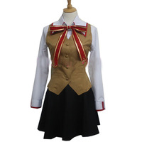 2019 Fate Stay Night Rin Tohsaka Grils' School Uniform Cosplay Costume Stage Performence Clothes