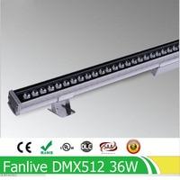 Barato 36W DMX512 RGB LED arandela de pared ac85 265v o AC24V focos de luz exterior de