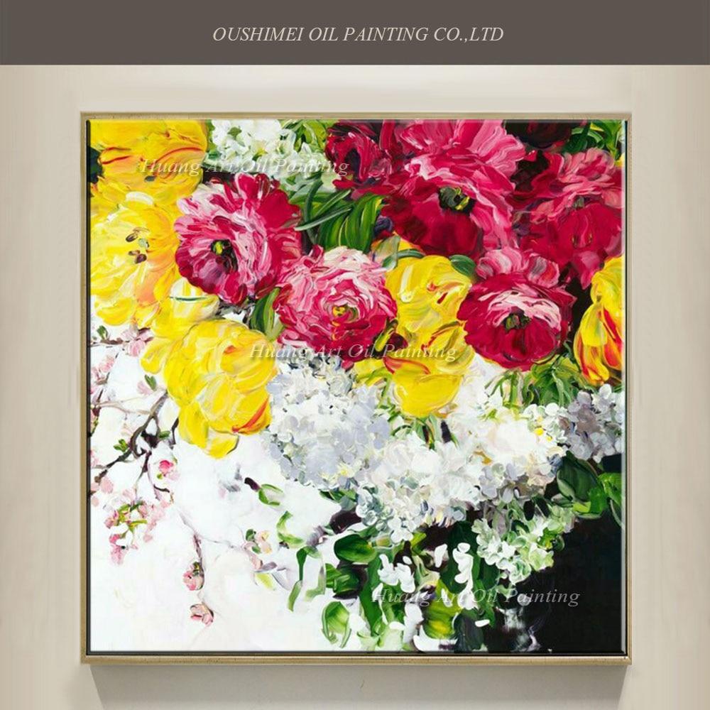 Aliexpresscom  Buy New Hand Painted Knife Flower Oil